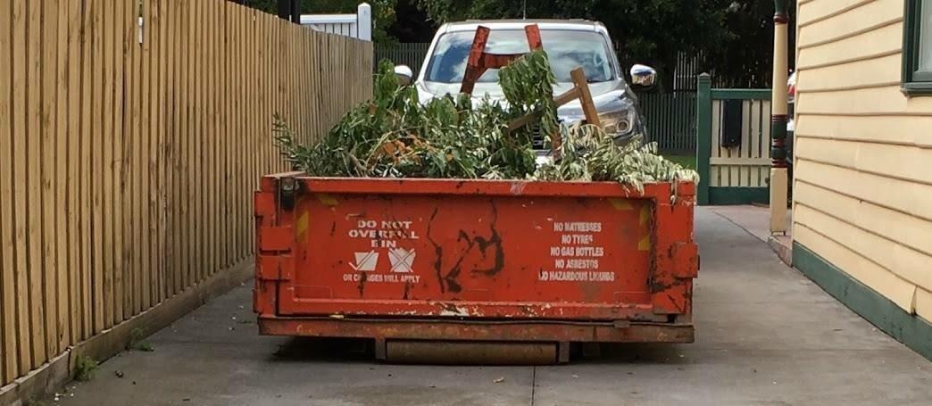 6m3 walk-in skip bin delivered to Newport, Western Subrbs
